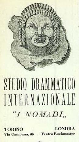 Pubblicità della Scuola di recitazione di Edoardo Maltese