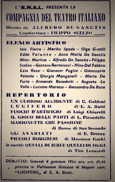 Il teatro di De Sanctis